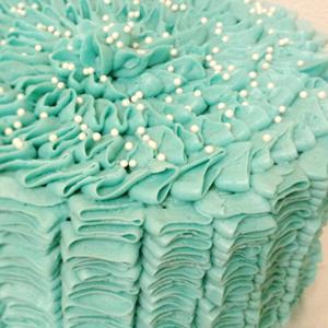 Tiffany & Pearls Bridal Shower Cake