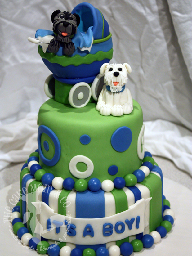 Puppy Baby Shower Cake