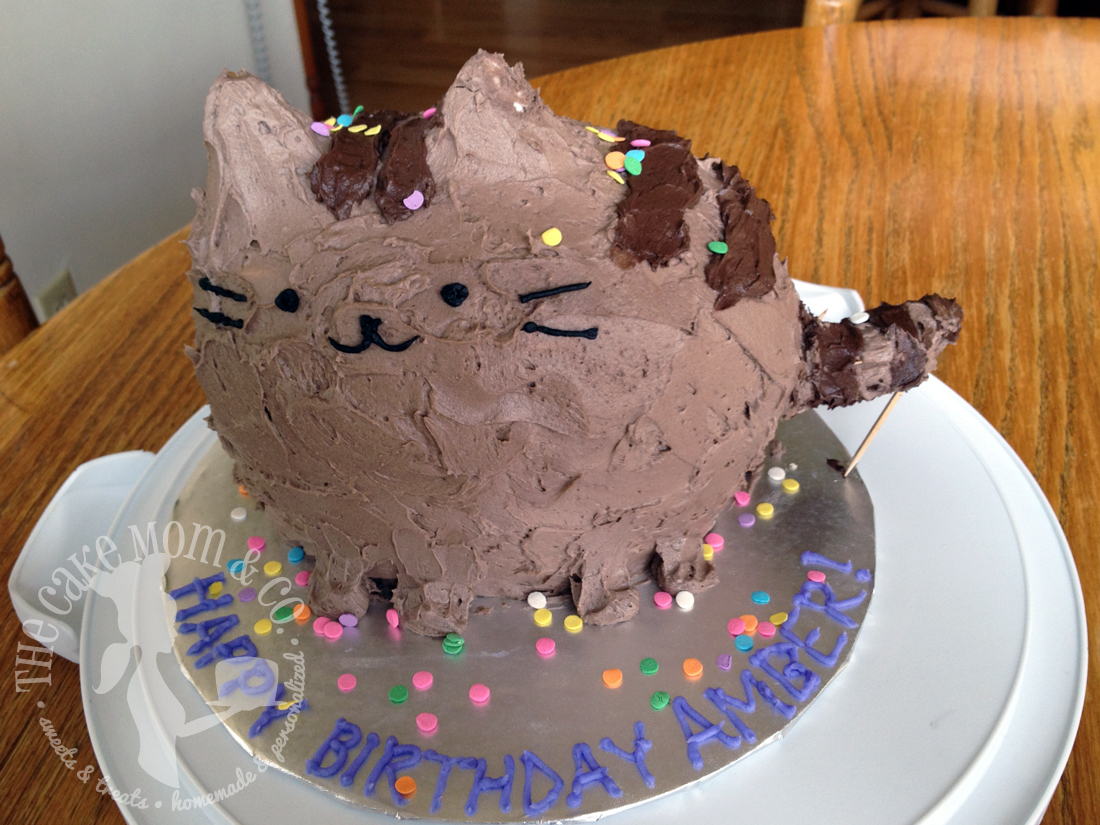 Pusheen Cat Birthday Cake