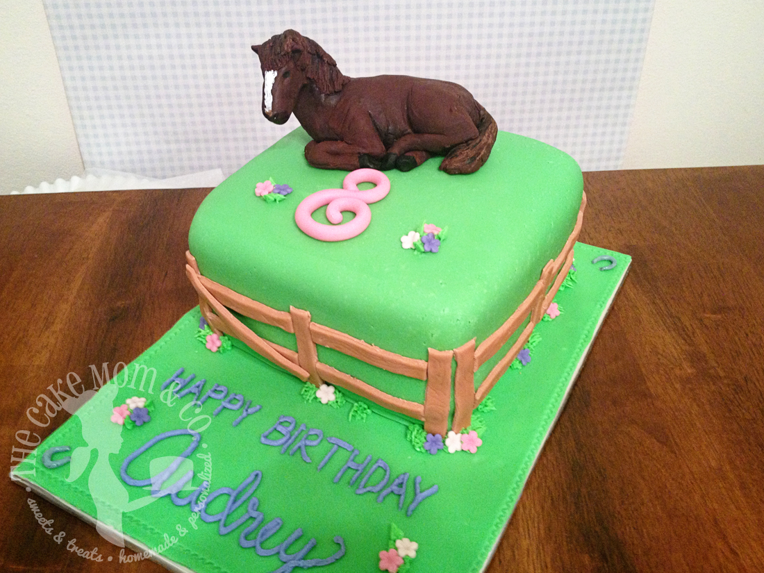 Horse in a Pasture Birthday Cake