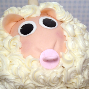 Little Lamb Baby Shower Cake
