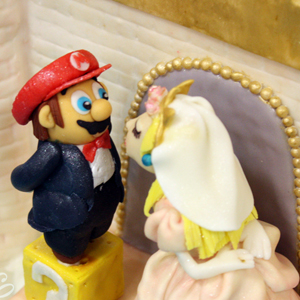 A Super Mario Wedding Cake