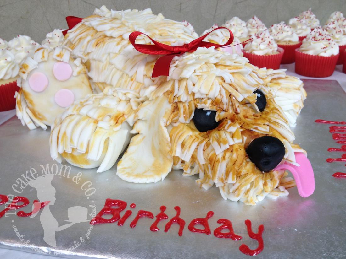 Shaggy Puppy Birthday Cake