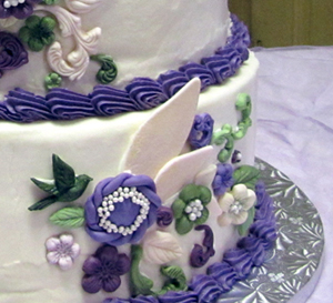 Rustic Plum Wedding Cake
