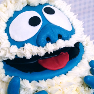 "Abominable Snowman ""Bumble"" Cake"
