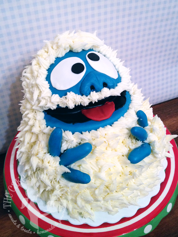 "Abominable Snowman ""Bumble"" Cake by The Cake Mom & Co."