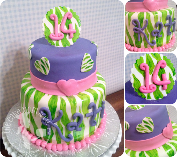 Green Zebra Funky Birthday Cake via The Cake Mom & Co.