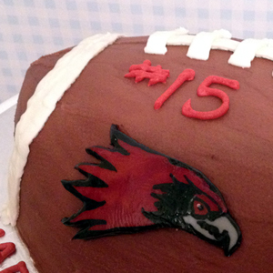 Redhawks Football Birthday Cake