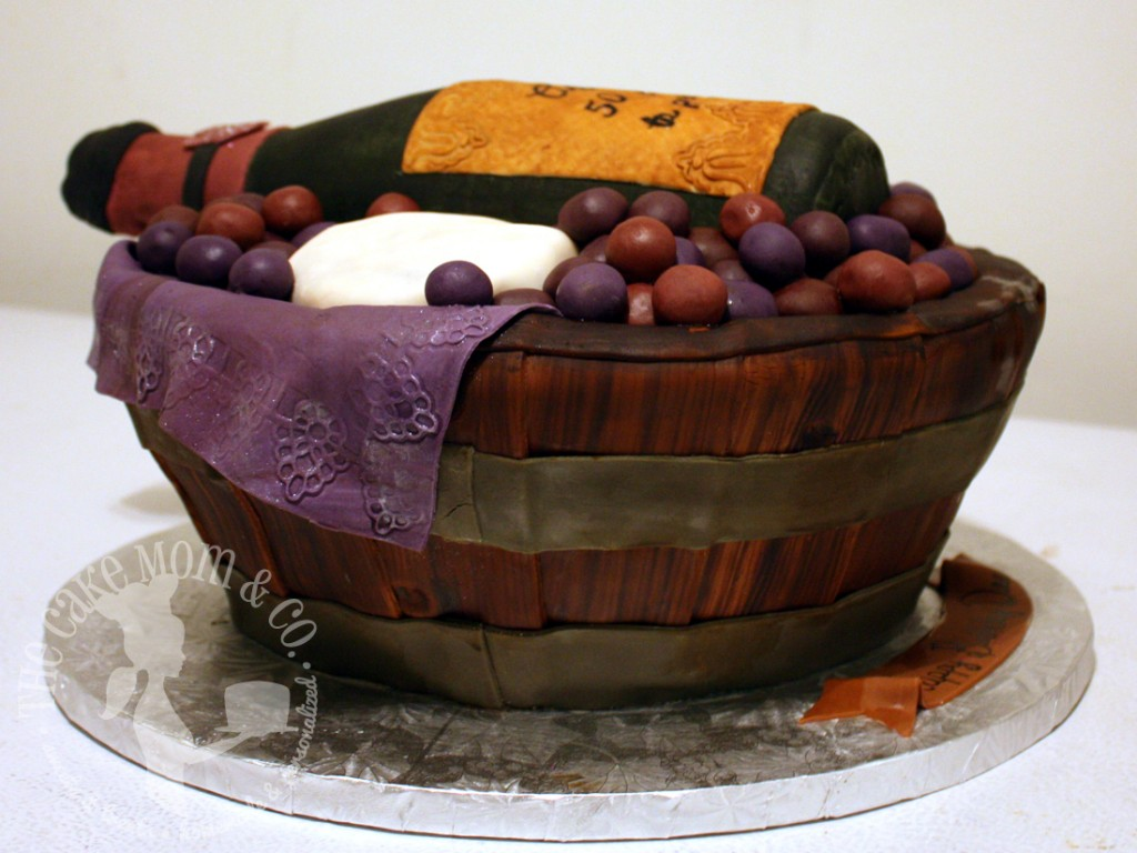 Wine Basket Cake by The Cake Mom & Co.
