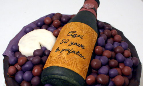 Wine Basket Cake by The Cake Mom & Co.