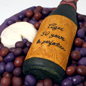 Your Best Bottle of Vintage Wine Cake