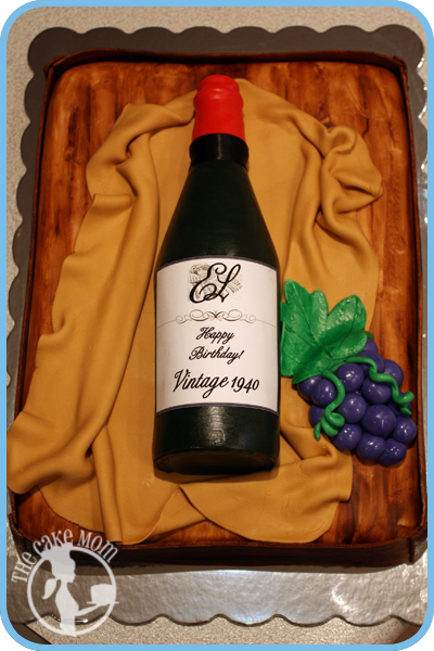 Wine Bottle Cake WineBottleBirthdayCake