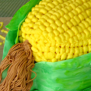 Corn Cob Birthday Cake