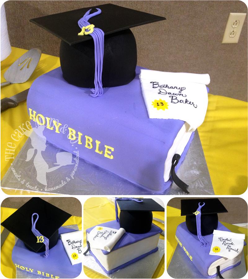 Graduation Bible Cake Duo