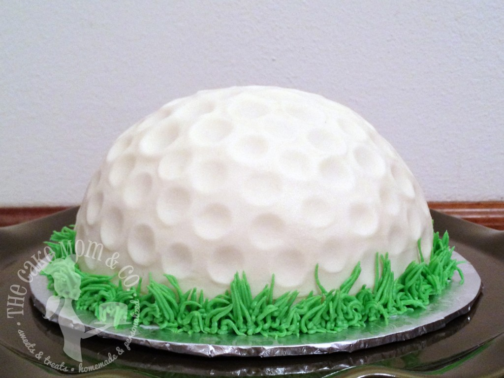 Golf Ball First Birthday Smash Cake