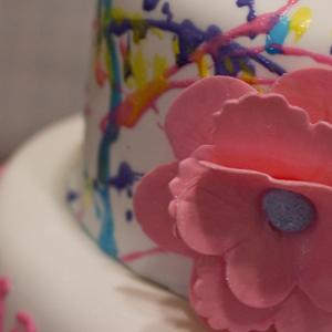 Bright & Pink Splatter Cake
