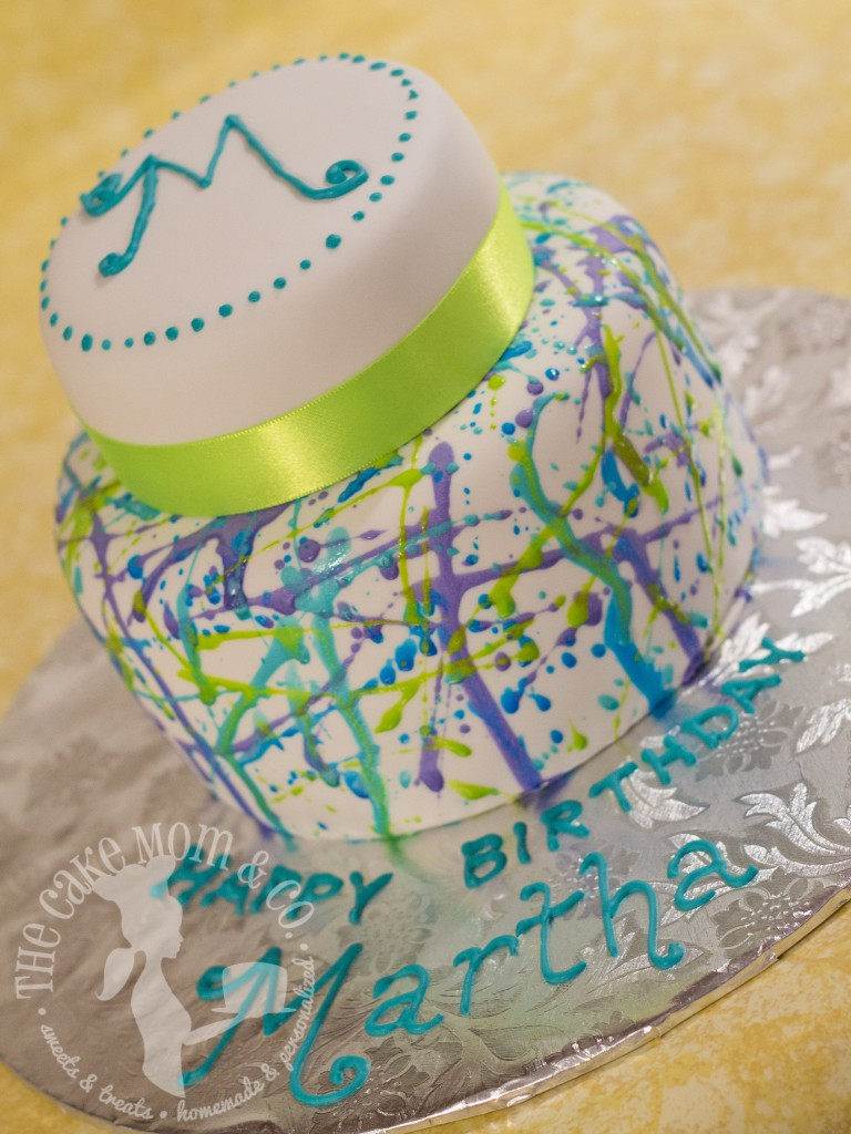 Cool Splatter Cake by The Cake Mom & Co.