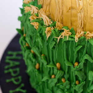 IH Farmer Corn Stalk Cake by The Cake Mom & Co.