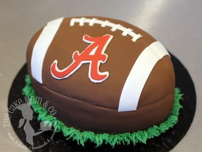 3D Alabama Football Cake by The Cake Mom & Co.