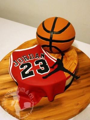 Air Jordan Basketball Cake by The Cake Mom & Co.