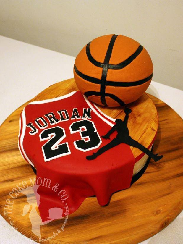 Air Jordan Basketball Cake by The Cake Mom & Co.
