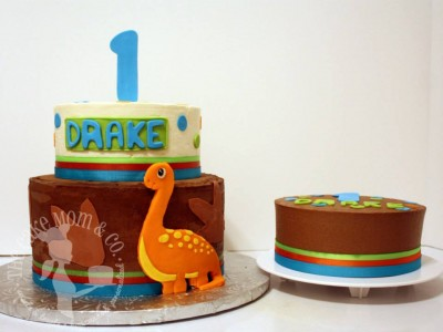 Dinosaur First Birthday and Smash Cake by The Cake Mom & Co.