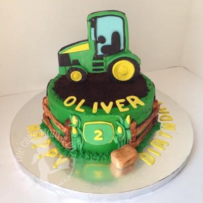 John Deere Farm Cake by The Cake Mom & Co.