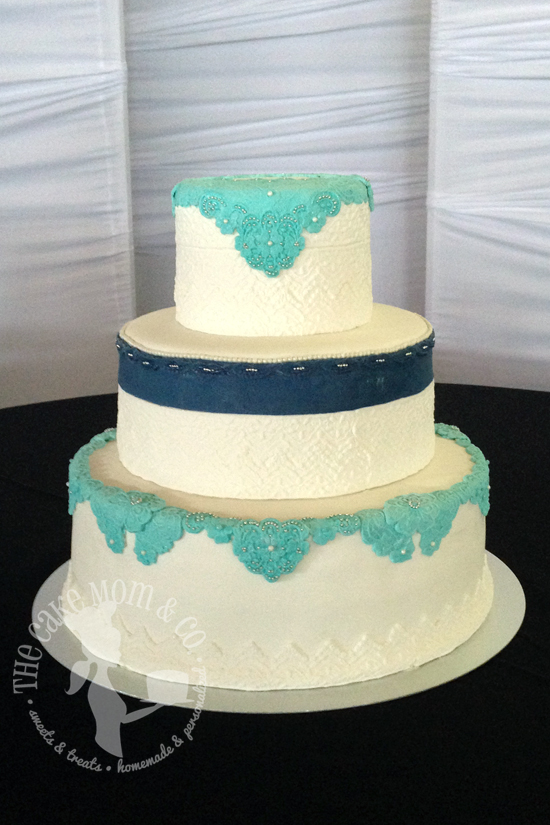 Every Cake Has A Story: Lace Wedding Cake