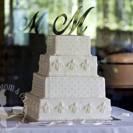 Southern Square White Wedding Cake