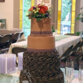 Chocolate Rosette Wedding Cake