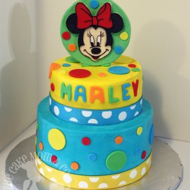 Colorful Minnie Mouse Cake