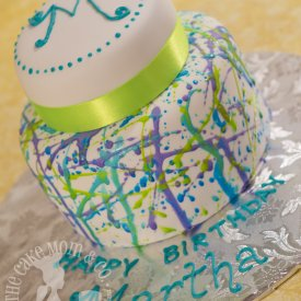 Cool Splatter Cake