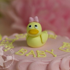 Pink Duckling Baby Shower Cake