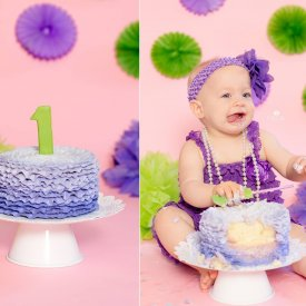 Purple Ruffles Smash Cake