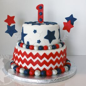 4th of July Birthday Cake